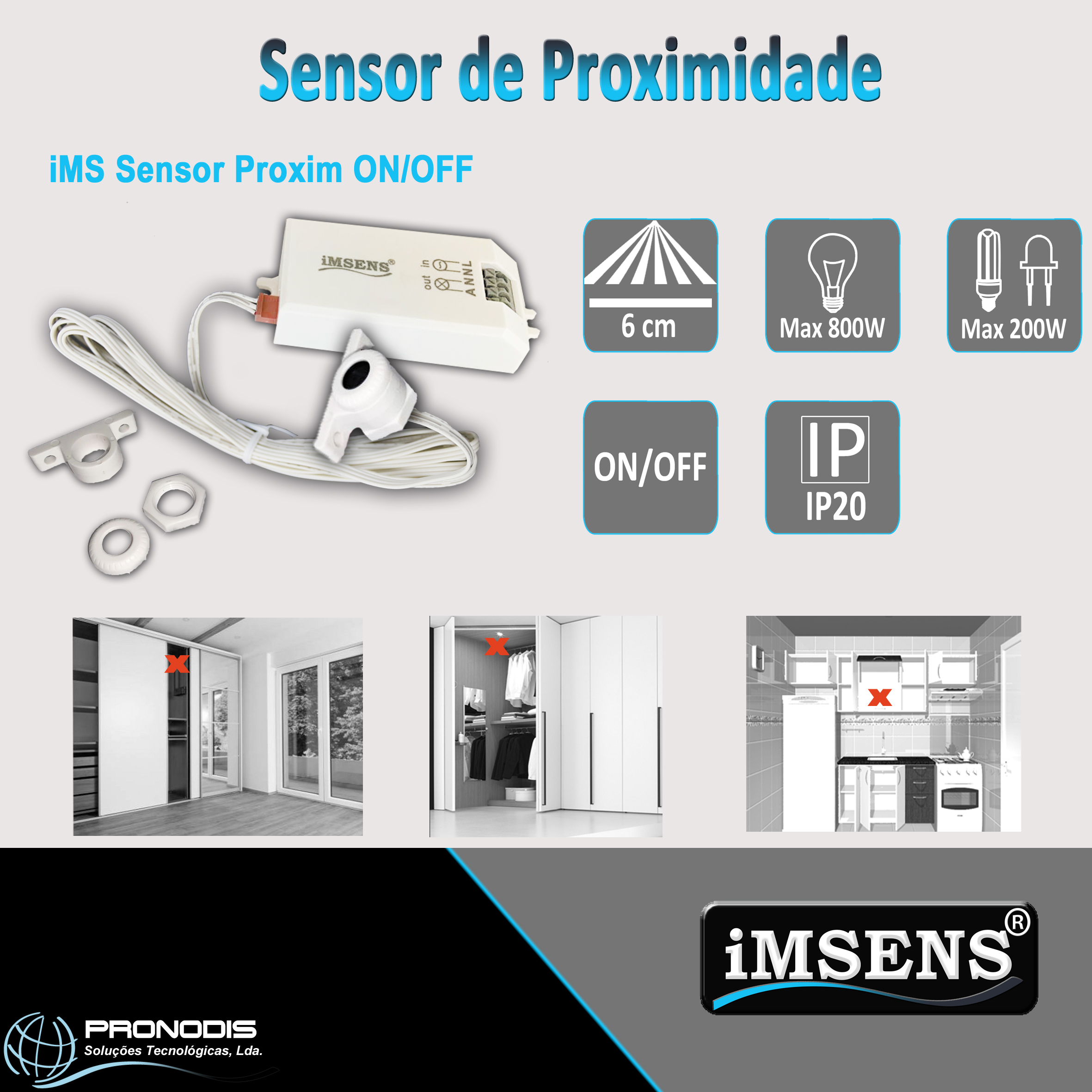 iMS Sensor Proxim ON/OFF - sensor de proximidade