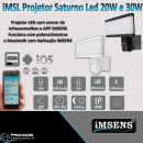 Projetor LED com APP iMSENs via Bluetooth